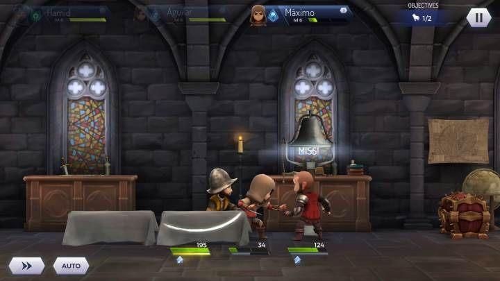 Jeśli masz niższy level niż twoi przeciwnicy możesz mieć duży problem - Walka z grupą przeciwników w Assassins Creed Rebellion - Assassins Creed Rebellion - poradnik do gry