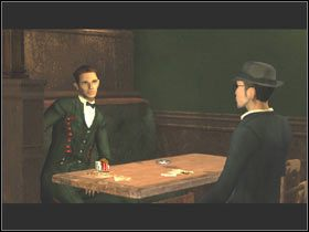 Poprosiłem go o szczegóły na temat wydarzeń w pokoju 507 i podanie nazwiska gościa z portretu pamięciowego, gdy nagle ten, jak oszalały, rzucił się do ucieczki - Alambic Bistro - Post Mortem - poradnik do gry