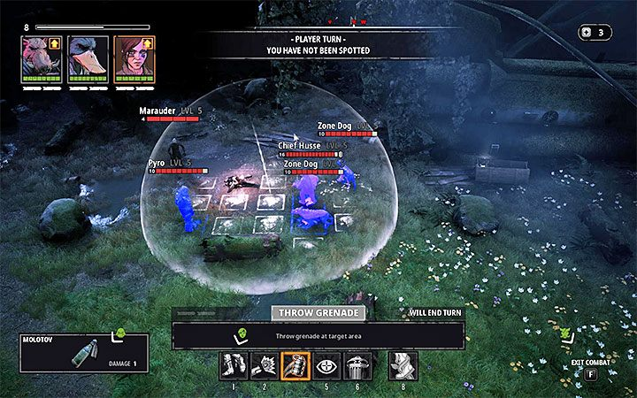 W głównym obozie mutantów przebywa spora grupa przeciwników, w tym dwóch unikalnych - Pyro i Chief Husse - The Fallen Angel - Atlas świata Mutant Year Zero - Mutant Year Zero - poradnik do gry