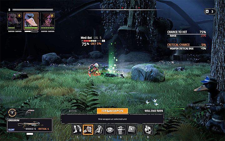 Inny pomysł na rozpoczęcie bitwy to zaatakowanie bota medycznego, który ukrywa się poza obozowiskiem - The Fallen Angel - Atlas świata Mutant Year Zero - Mutant Year Zero - poradnik do gry