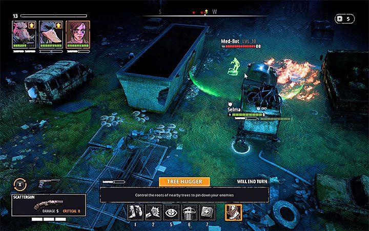Najbardziej kłopotliwi przeciwnicy spośród tych przebywających w tunelu to Pyro oraz Med-Bot - Cave of Fear - Atlas świata Mutant Year Zero - Mutant Year Zero - poradnik do gry