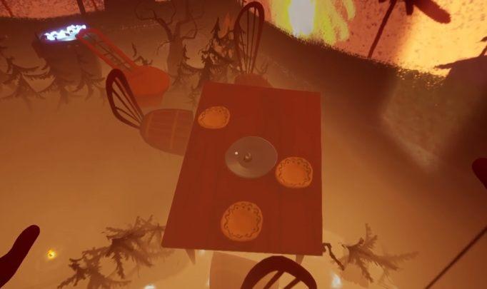 Twoim pierwszym zadaniem jest dostanie się na stół - Zadanie trzecie - pożar - Hello Neighbor Hide and Seek - poradnik do gry