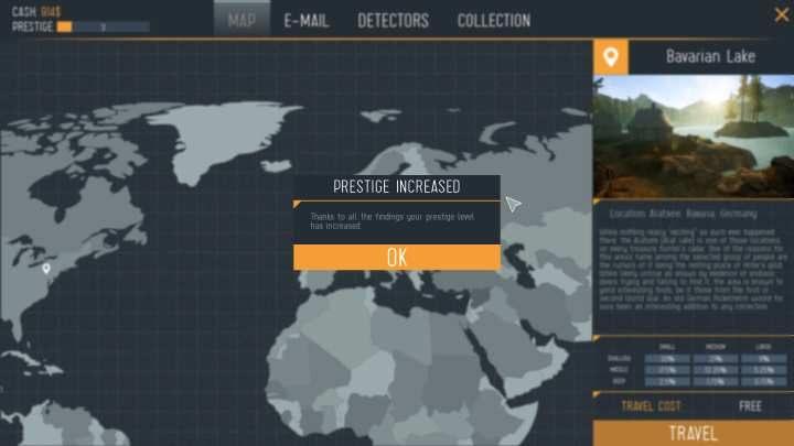 Ekran ukazujący zwiększenie poziomu prestiżu. - Jak szybko podnosić prestiż w Treasure Hunter Simulator? - Treasure Hunter Simulator - poradnik do gry