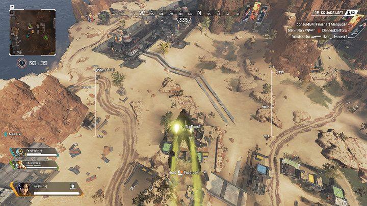 Na wieże w postaci czerwonych balonów możesz się łatwo wspiąć przy użyciu liny zip, a następnie zeskoczyć i ponownie aktywować plecak odrzutowy co pozwoli Ci na szybkie przemieszczanie się po mapie - Poruszanie się, ślizg, skoki i lina w Apex Legends - Apex Legends - poradnik do gry