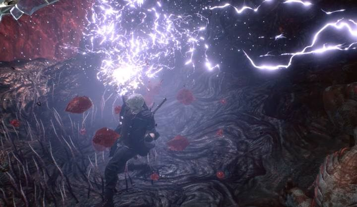 Poskramiacze mają różne efekty: np. Uwertura (Overture) wyrzuca przeciwników w powietrze porażając ich i dotkliwie raniąc - Nero - Arsenał, broń w Devil May Cry 5 - Devil May Cry 5 - poradnik do gry