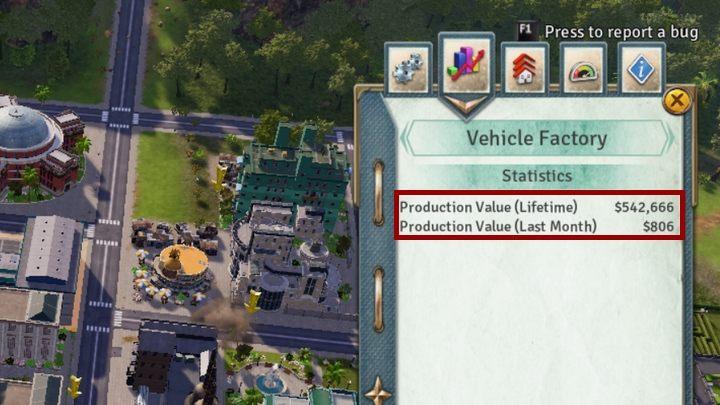 Przychody wygenerowane przez Vehicle Factory. - Finanse i handel w Tropico 6 - Tropico 6 - poradnik do gry