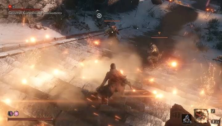 Oślep strzelców i szybko zajmij się ich eliminacją - Generał Kuranosuke Matsumoto | Boss w Sekiro Shadows Die Twice - Sekiro Shadows Die Twice - poradnik do gry