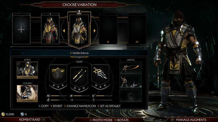 создать персонаж в Mortal Kombat 11