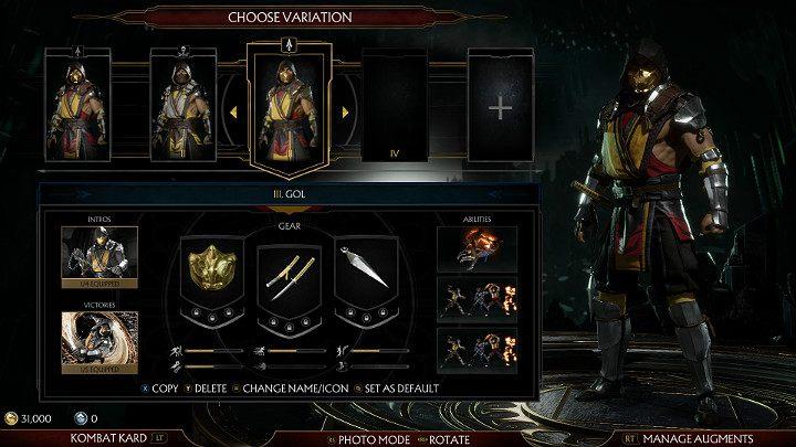 Mortal Kombat 11 позволяет игроку создать собственную уникальную конфигурацию своего любимого персонажа - Персонализация персонажей в Mortal Kombat 11 - Mortal Kombat 11 - Руководство по игре и прохождение