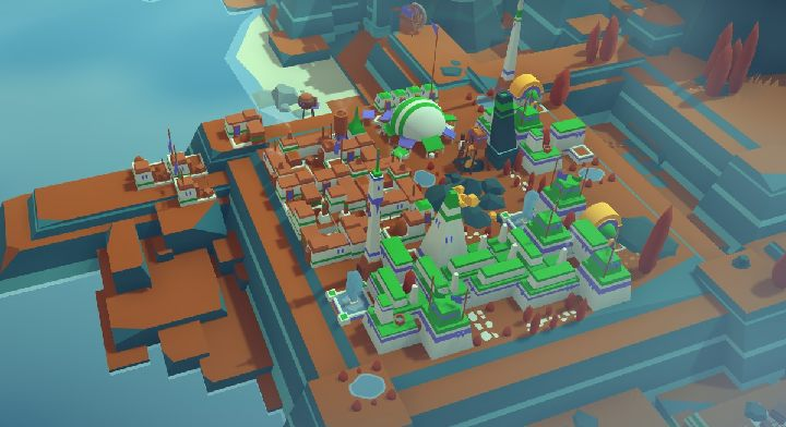 Dzięki możliwości obracania budynków nasze miasto wygląda jak plansza z tetrisa. - Sterowanie w Islanders - Islanders - poradnik do gry