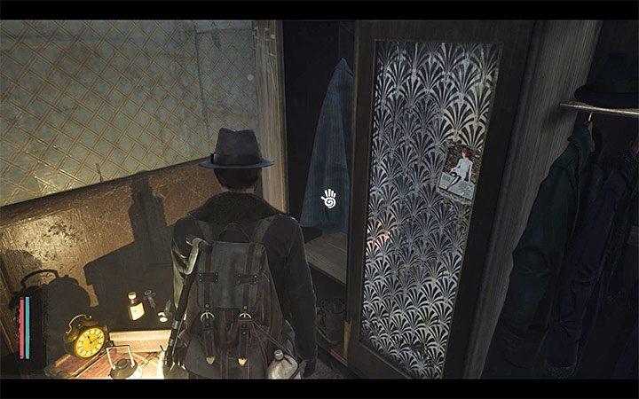 Zainteresuj się szafą w jednym z narożników pomieszczenia hotelowego wynajmowanego przez Reeda - Jak zmienić strój bohatera w The Sinking City? - The Sinking City - poradnik do gry