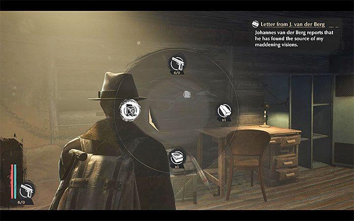 Jeśli chcesz skorzystać z aparatu przytrzymaj klawisz rozwijanego menu przedmiotów (TAB w wersji PC) - Jak robić zdjęcia w The Sinking City? - The Sinking City - poradnik do gry