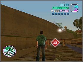 Gdy znajdziesz si� przy mo�cie, skr�� w zau�ek pomi�dzy betonow� balustrad� i zabudowaniami - Numer 12 - Rampage - Grand Theft Auto: Vice City - Encyklopedia - poradnik do gry