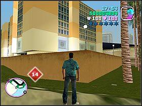 Naprzeciwko budynku z Rampage numer 13 znajdziesz inny, jasnego koloru - Numer 14 - Rampage - Grand Theft Auto: Vice City - Encyklopedia - poradnik do gry