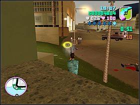 Ustaw si� na chodniku i zdejmuj kolejne grupki, nie pozwalaj�c �adnej si� do Ciebie zbli�y� - Numer 14 - Rampage - Grand Theft Auto: Vice City - Encyklopedia - poradnik do gry