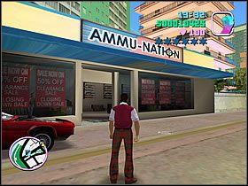 Zanim udasz się do centrum, KONIECZNIE zaopatrz się w karabin Mac10 oraz kamizelkę kuloodporną - 02 Mall Shootout - Colonel Cortez - Grand Theft Auto: Vice City - Solucja - poradnik do gry