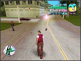 Wysiądź z motoru i zabierz przesyłkę - 02 Mall Shootout - Colonel Cortez - Grand Theft Auto: Vice City - Solucja - poradnik do gry