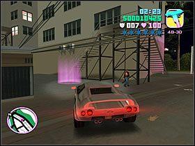 Wsiadaj do białego wozu Lance'a i ruszaj w stronę punktu spotkania - 03 Guardian Angels - Colonel Cortez - Grand Theft Auto: Vice City - Solucja - poradnik do gry