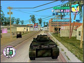 Kryjówkę masz wyznaczoną na mapie, więc zrób zwrot o 180 stopni i ruszaj w stronę punktu widocznego na mapie - 04 Sir, Yes Sir! - Colonel Cortez - Grand Theft Auto: Vice City - Solucja - poradnik do gry
