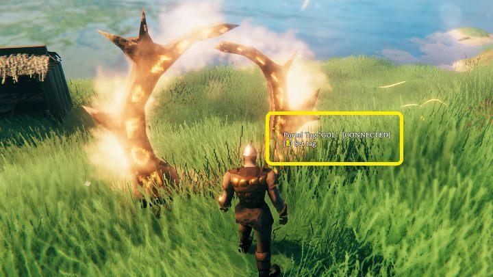 После того, как вы построите второй портал, подождите, пока он активируется - на экране появится связанная информация - Valheim: Portals - Valheim Game Guide