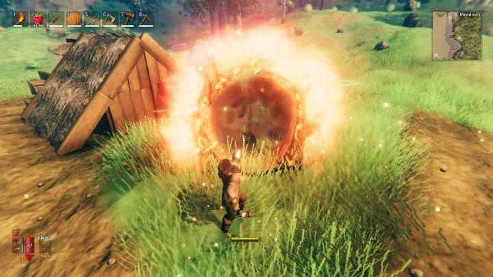 Если вы хотите телепортироваться, просто зайдите в портал и пройдите через него - Valheim: Portals - Valheim Game Guide