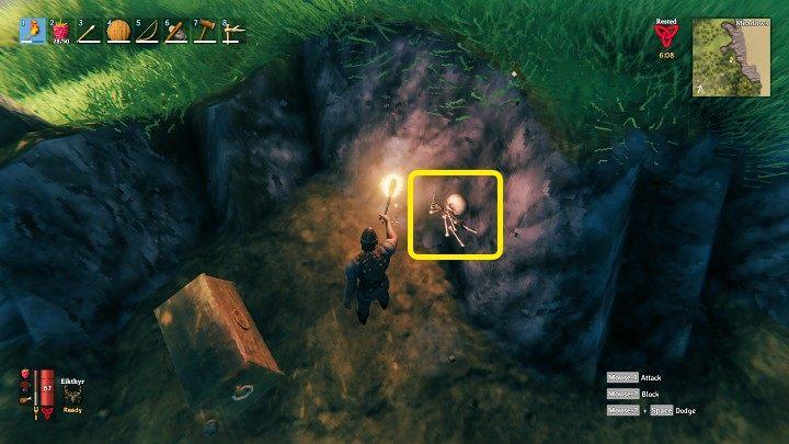 Найдя сокровище, вы можете попытаться выкопать всю территорию, отмеченную камнями - Valheim: Buried Treasure - как найти? - Руководство по игре Valheim