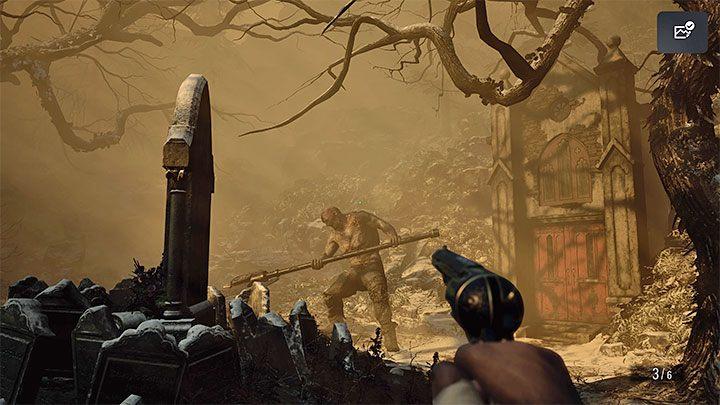 С новым квестовым предметом вернитесь к надгробию, отмеченному значком золотого сундука - Resident Evil Village: Gold Chests - карта, описания, список всего - Resident Evil Village Game Guide
