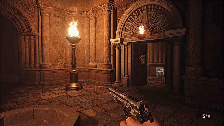 Войдя в гробницу, вы увидите две недоступные боковые комнаты - Resident Evil Village: Gold Chests - карта, описания, список всего - Resident Evil Village Game Guide