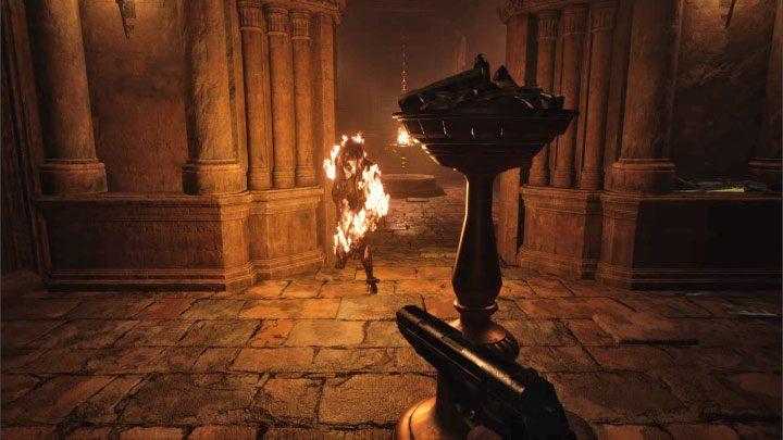 Теперь быстро бегите во вторую комнату подземелья - Resident Evil Village: Gold Chests - карта, описания, список всего - гайд по игре Resident Evil Village.