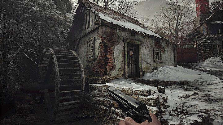 Исследуя деревню, вы должны остерегаться волка - вы можете убить его, сбежать от него или красться - Resident Evil Village: Gold Chests - карта, описания, список всего - Resident Evil Village Game Guide