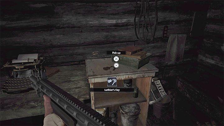 Внутри хижины вы найдете ключ Лютьера - Resident Evil Village: Gold Chests - карта, описания, список всего - Resident Evil Village Game Guide
