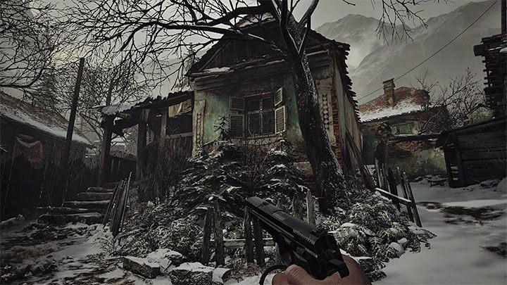 С помощью ключа вы можете перейти к маркеру золотого сундука в деревне - это одно из самых больших закрытых зданий - Resident Evil Village: Золотые сундуки - карта, описания, список всего - Resident Evil Village Game Guide