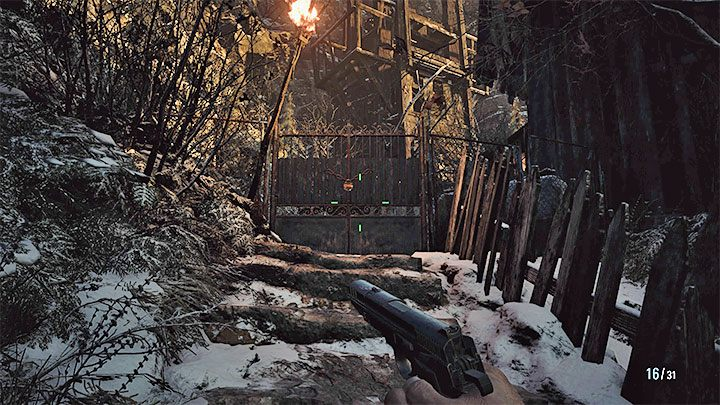 Вход в мельницу находится в задней части здания - Resident Evil Village: Gold Chests - карта, описания, список всего - Resident Evil Village Game Guide