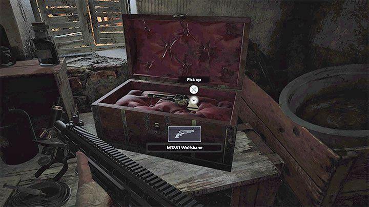 Внутри хижины вам нужно избавиться от одного монстра - Resident Evil Village: Gold Chests - карта, описания, список всего - Resident Evil Village Game Guide