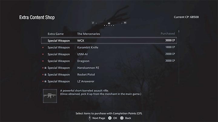 Дополнительная подсказка - помимо покупки неограниченного количества боеприпасов, вас также должна заинтересовать возможность покупки нового оружия в магазине дополнительного контента - Resident Evil Village: Cheats - доступны ли они? - Руководство по игре Resident Evil Village