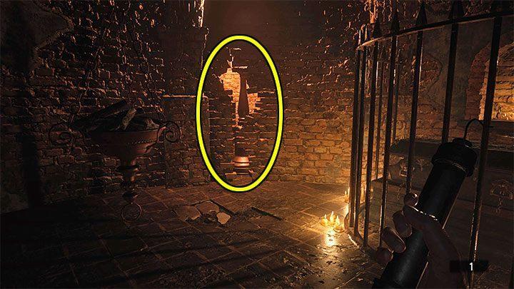В новой комнате есть ослабленная стена (значок рушащейся стены на карте) - Resident Evil Village: Treasure Map - где сокровище? - Руководство по игре Resident Evil Village