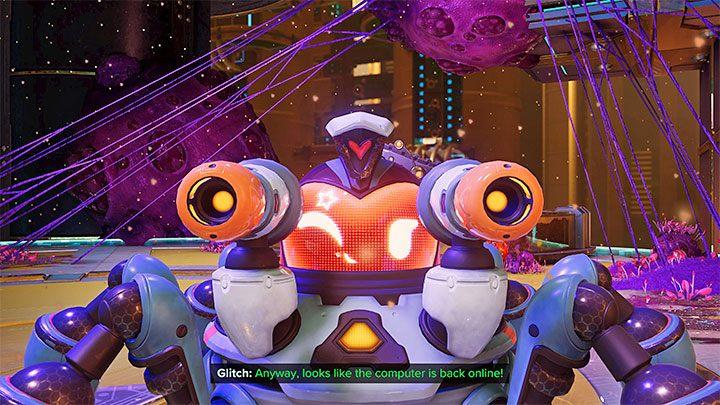 Дефект вооружен, и вы можете управлять им в миниатюрной реальности, чтобы уничтожить враждебные вирусы и уничтожить их гнезда - Ratchet & Clank Rift Apart: игровые персонажи - Руководство по игре Ratchet & Clank Rift Apart