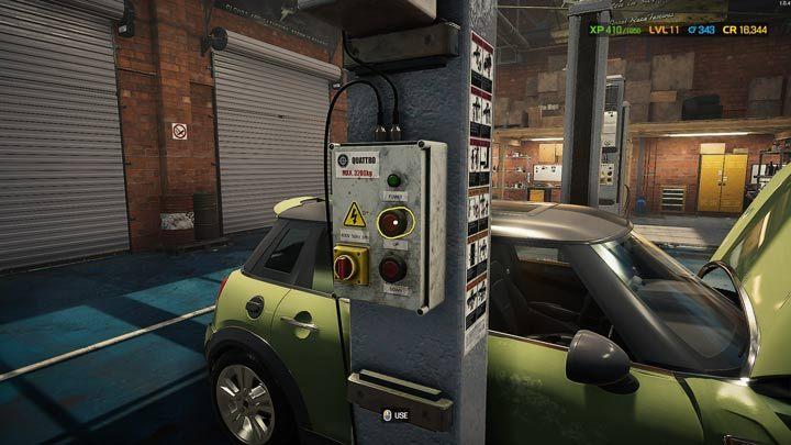 Если вам нужно залезть под подвеску или под детали двигателя, вам нужно поднять машину - Car Mechanic Simulator 2021: Замена деталей - Руководство по игре Car Mechanic Simulator 2021