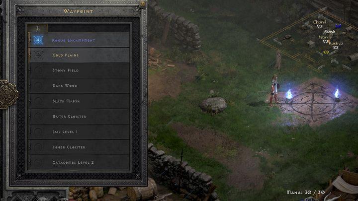 Второй способ путешествия - найти путевые точки в определенных местах - Diablo 2 Resurrected: Portals and Teleportation - Diablo 2 Resurrected Game Guide