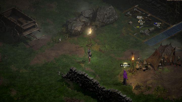 У каждого NPC, у которого есть задание для вас и который хочет поговорить с вами, есть восклицательный знак над головой - Diablo 2 Resurrected: Evil Dwelling - пошаговое руководство, пошаговое руководство - Diablo 2 Resurrected - игра