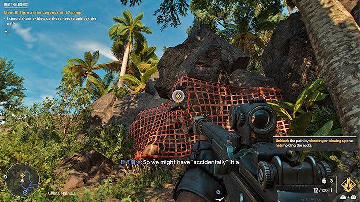 Позже на подъеме вы несколько раз столкнетесь с большими каменными препятствиями, и пример показан на прилагаемом изображении - Far Cry 6 Meet the Legends - пошаговое руководство, пошаговое руководство - Руководство по игре Far Cry 6