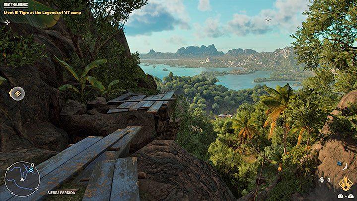 После того, как вы окажетесь в более высокой части гор, обратите еще больше внимания на прыжки через уступы и доски над пропастью - Far Cry 6: Meet the Legends - прохождение, прохождение - Far Cry 6 Game Guide
