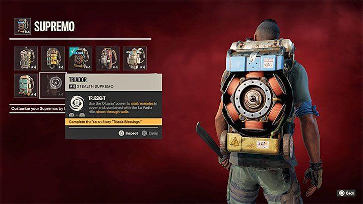 Исключение составляет рюкзак Triador, который нельзя купить - Far Cry 6: трофеи / достижения - список - руководство по игре Far Cry 6