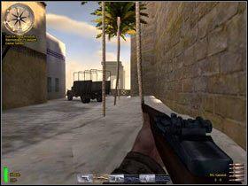 Kieruj się zgodnie ze wskazaniami kompasu - Bizerte Canal (3) - MISJA 3 - Tunisia - Medal of Honor: Allied Assault - Breakthrough - poradnik do gry