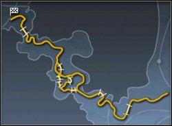 Tą mapę można przejechać na kilka sposobów, gdyż w jej centrum droga dzieli się na kilka innych, które wzajemnie się przecinają - Trasy cz.1 - Need for Speed: Porsche 2000 - poradnik do gry