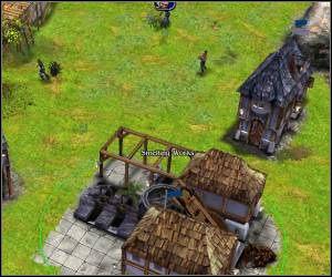 Gdy tylko będziesz miał taką możliwość zacznij stawiać pierwsze budynki (przyzwij dodatkowych chłopów): chatkę drwala, małe i średnie centrum dowodzenia (small/medium HQ), kamieniołom, hutę (smelting works) oraz kopalnię - 5.6 [ROZDZIAŁ 1] Leafshade cz.1 - SpellForce: Zakon Świtu - poradnik do gry