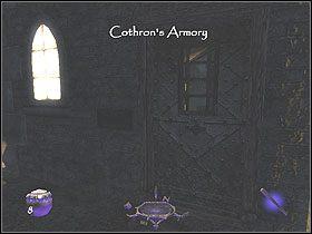 Zabierz znajduj�ce si� tu przedmioty: srebrne monety (50) ze skarbca dwie strza�y le��ce na pudle oraz dwa jaspisowy naszyjnik i srebrne monety z zamkni�tej skrzyni - Dzie� pierwszy [Opis 6] - Miasto - Thief: Deadly Shadows - poradnik do gry