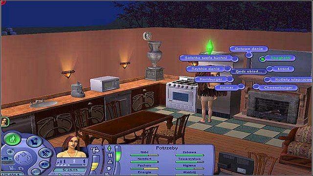 Komfort- kiedy nasz Sim wraca z pracy, jest naprawdę zmęczony i potrzebuje chwili odpoczynku - Potrzeby - The Sims 2 - Pełna Kolekcja - poradniki