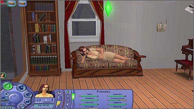 Pęcherz- do zaspokojenia tej potrzeby niezbędne jest tylko jedno pomieszczenie - chodzi tu oczywiście o toaletę - Potrzeby - The Sims 2 - Pełna Kolekcja - poradniki