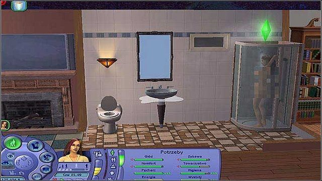 Wystrój- Simowie lubią przebywać w jak największych pomieszczenia z dużą ilością okien - Potrzeby - The Sims 2 - Pełna Kolekcja - poradniki